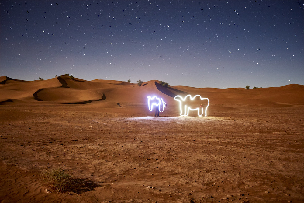 Light Painting Maroc