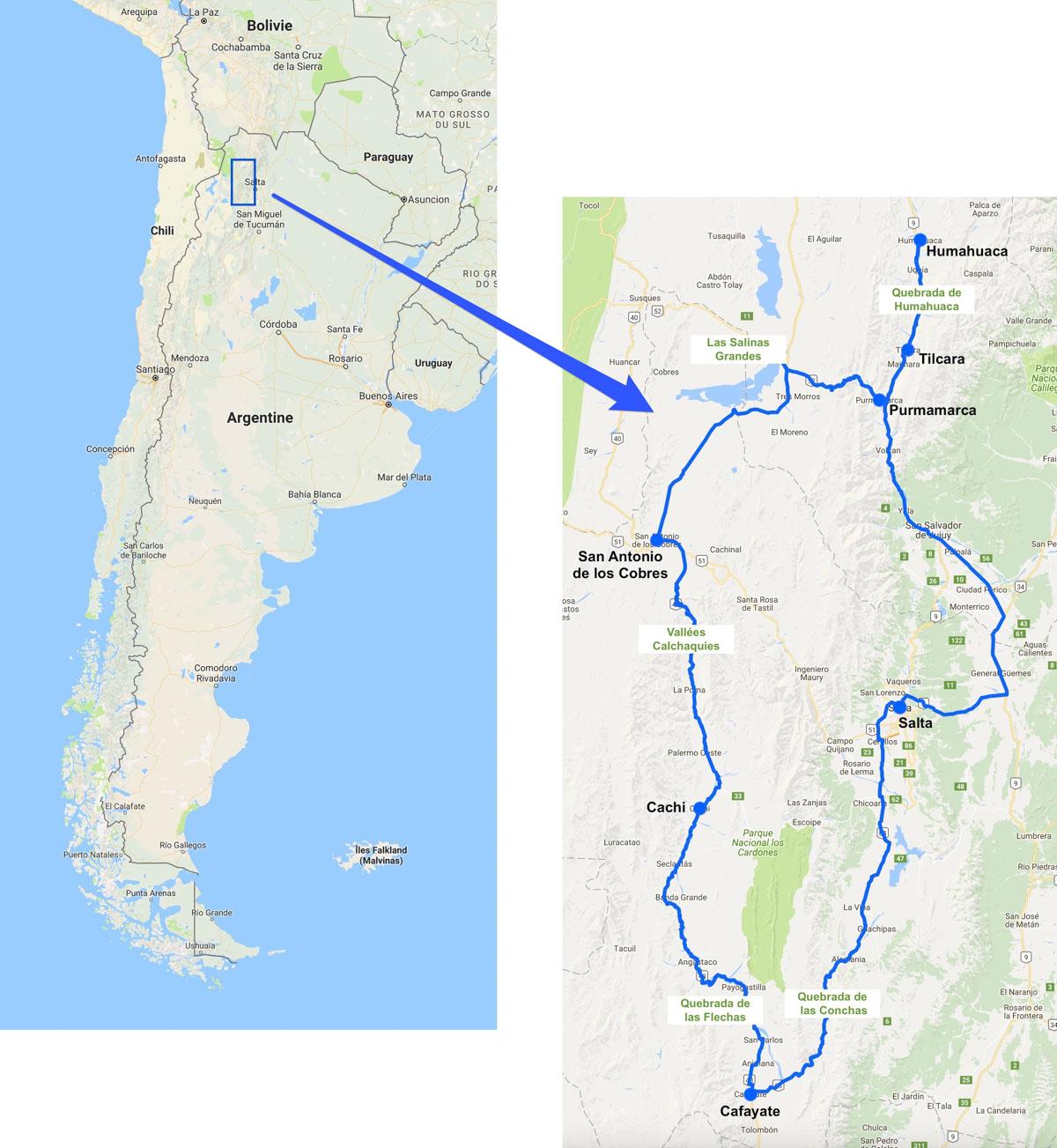 itinéraire nord-ouest argentin