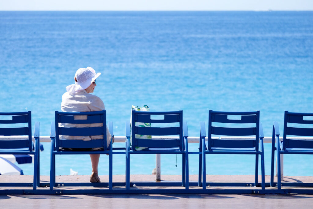 chaises bleues nice