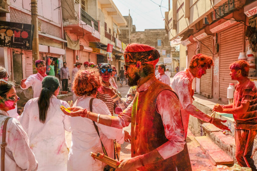 fêter Holi en inde