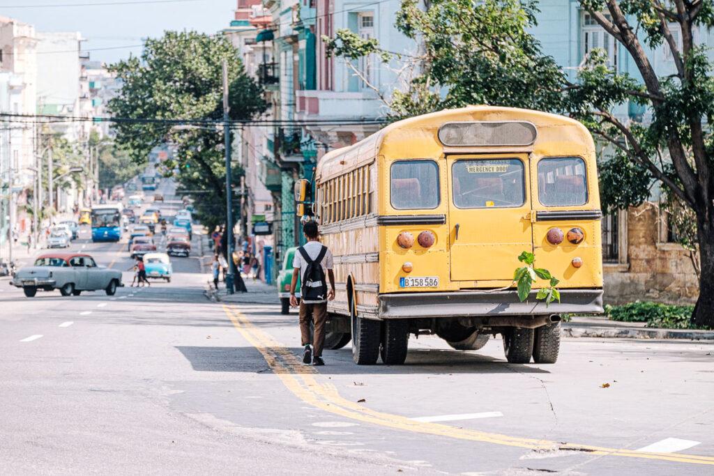 bus scolaire cuba