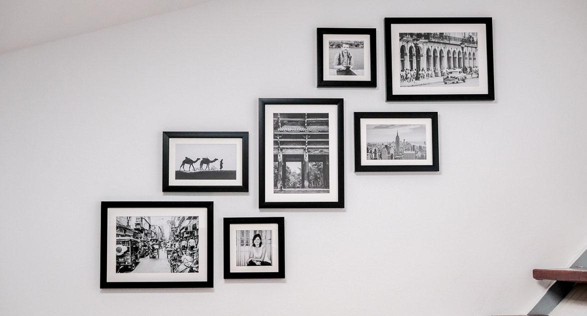 composition cadres mur