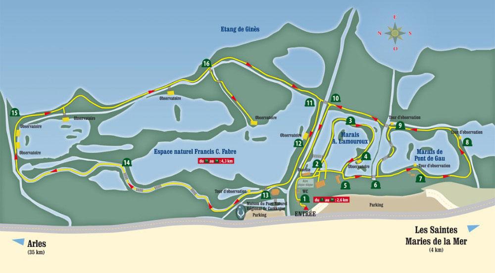 plan parc ornithologique pont de gau